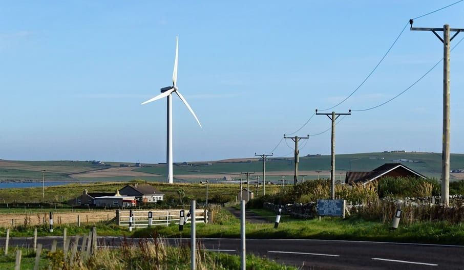 Hydrogen Fuel Production - Image of Road in Orkney, Scotland