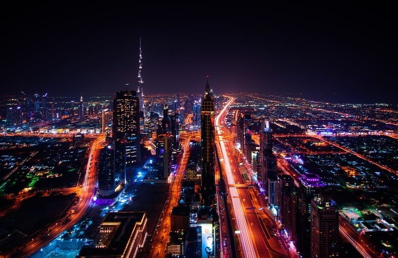 Hydrogen Fuel - Dubai Cityscape at Night