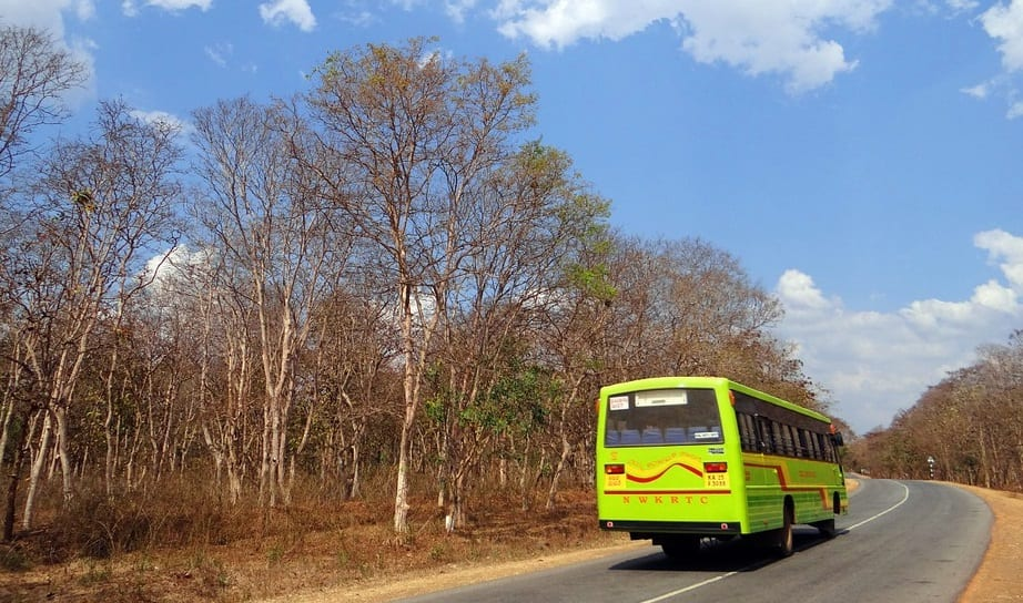 Hydrogen Fuel - Bus on Road in India