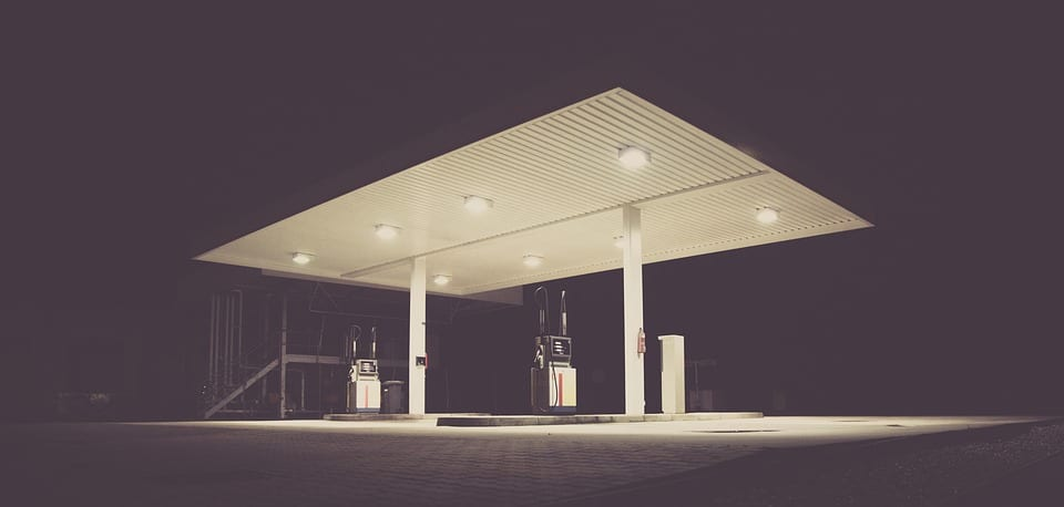 Hydrogen Fuel - Image of deserted gas station