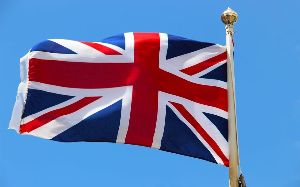 Renewable Energy - UK Flag Flying