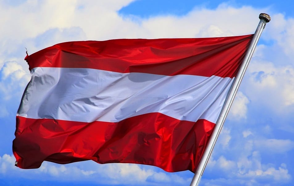 Hydrogen Fuel Production - Flag of Austria