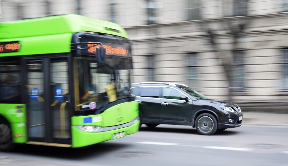 Hydrogen Fuel Vehicles - Image of Bus on Road