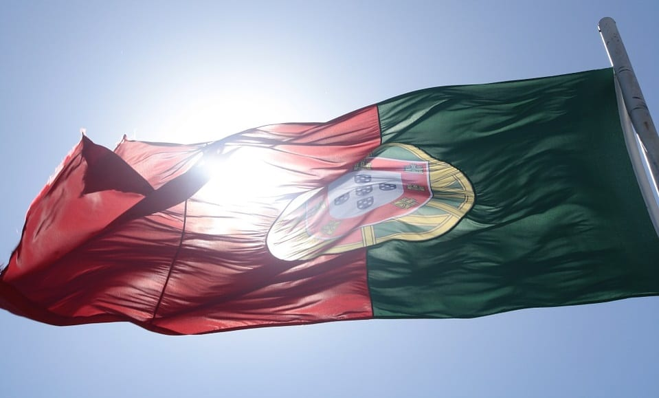Renewable Energy - Portugal Flag in Sun