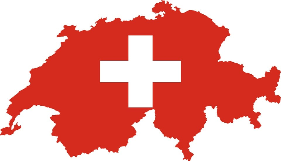 Hydrogen Community - Switzerland - Swiss flag - Swiss map