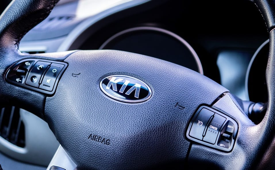Niro EV - KIA logo on steering wheel