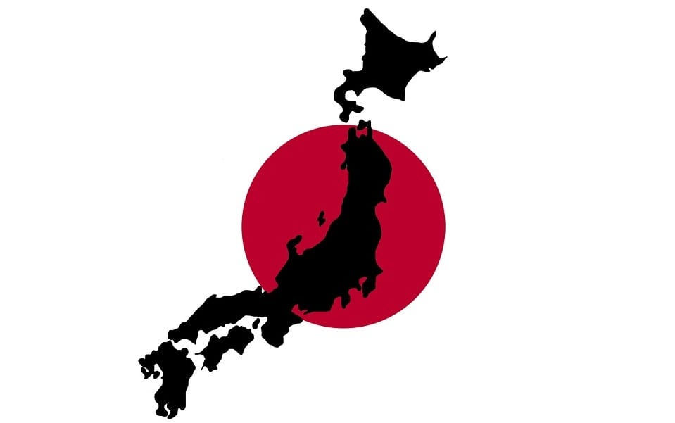 hydrogen supply chain - map of japan - japan flag
