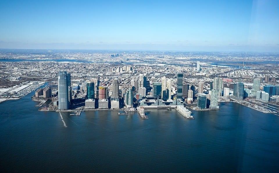 Green Energy Economy - New Jersey - City Skyline