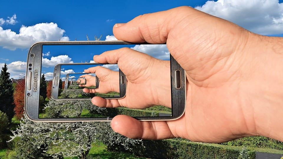 Samsung renewable energy - Samsung mobile phone image within an image