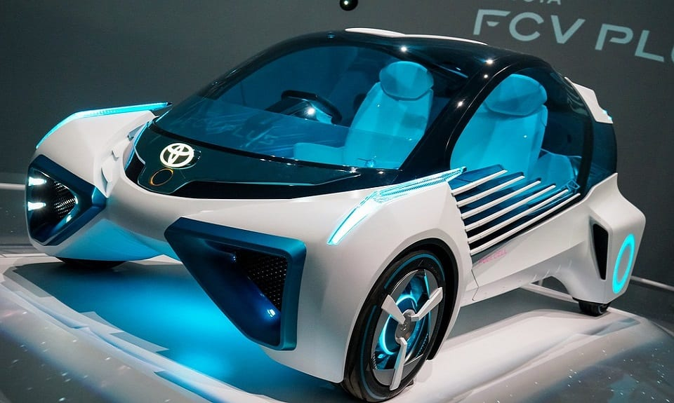 hydrogen powered cars - Toyota FCV concept car