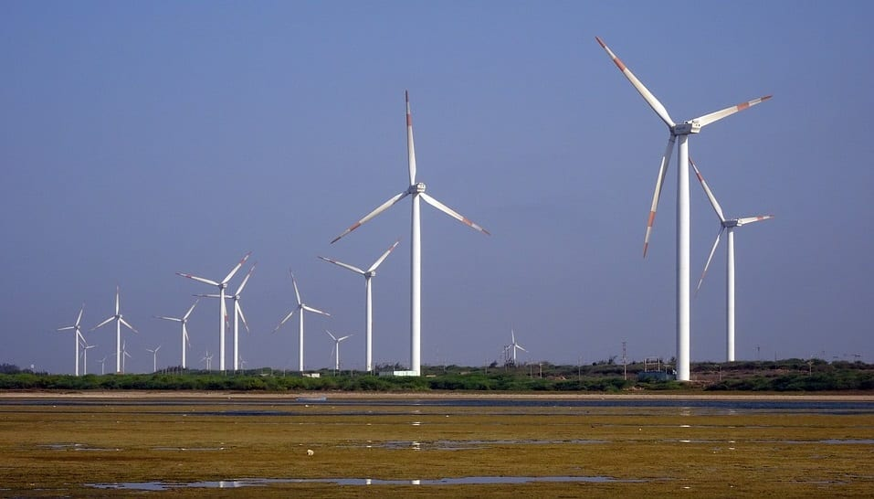 UK Wind Energy - Wind Turbines in Field
