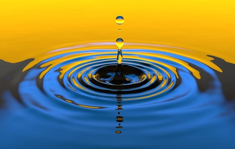 Ammonia to hydrogen - liquid drop water