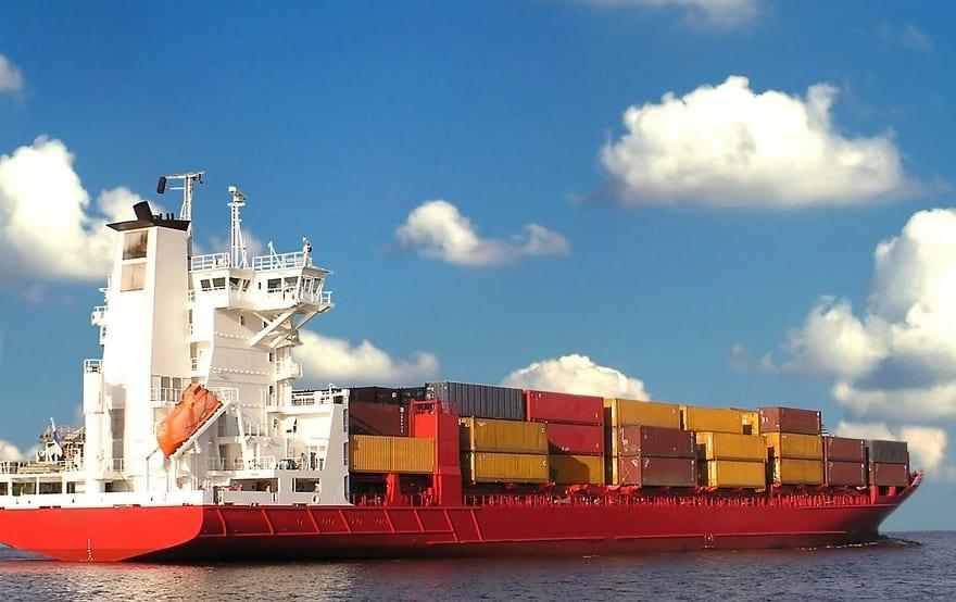 Delaware Hydrogen Plant - Cargo Ship on ocean