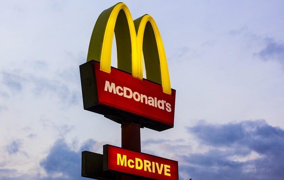 Plastic straws waste - McDonald's Restaurant