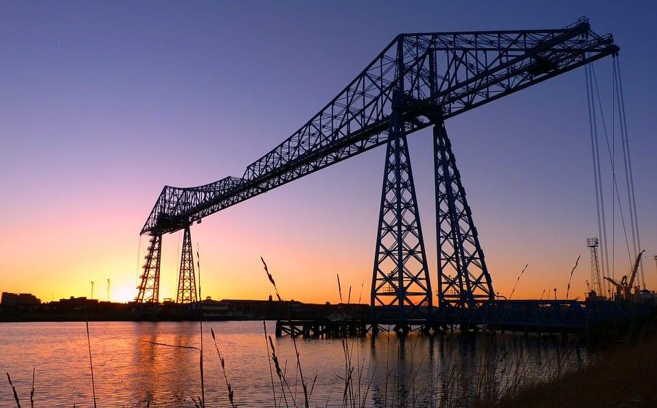 UK Hydrogen in Teesside -Transporter Bridge in Middlesbrough - Teesside - England