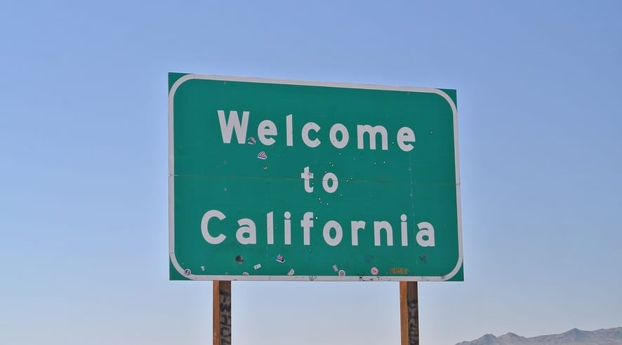 California clean power bill - Claifornia Welcome Sign