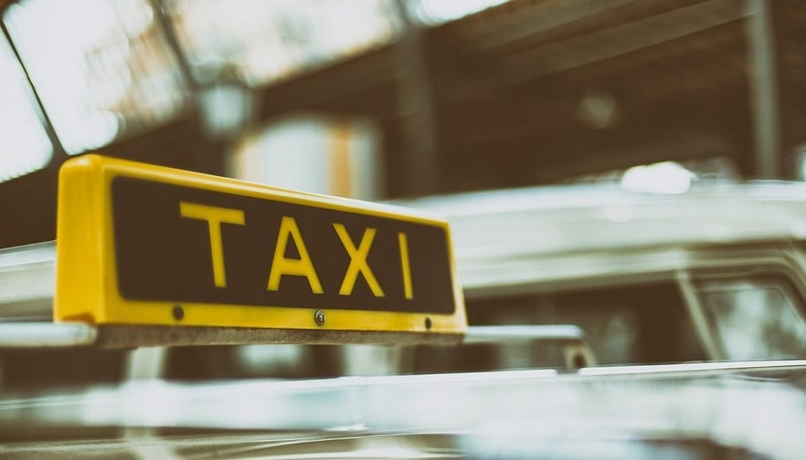 Hydrogen Taxi - Taxi sign