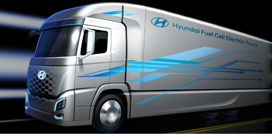 Hyundai fuel cell electric truck - Image from Hyundai Motors
