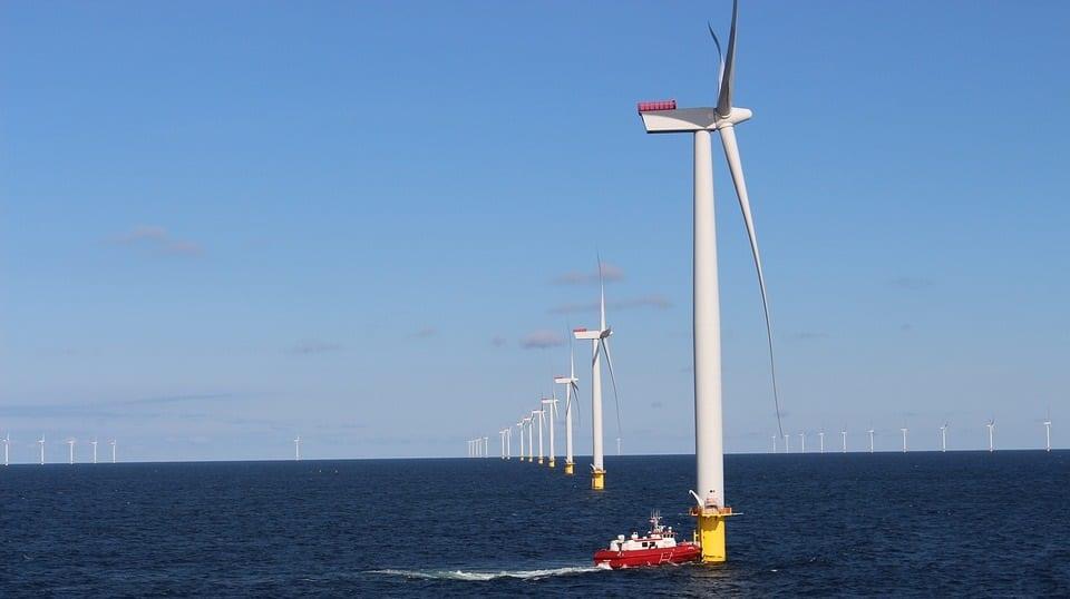 floating wind turbine - offshore wind farm