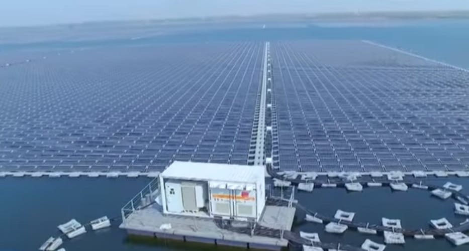 Floating solar energy - massive floating solar farm in china