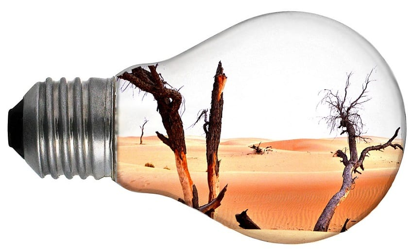 2018 Climate Change - Heat - Desert - Lightbulb