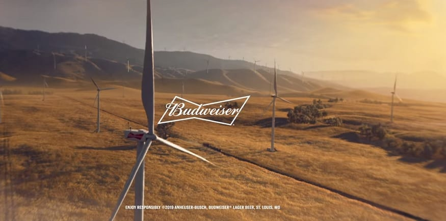 Budweiser Super Bowl commercial puts the spotlight on wind energy