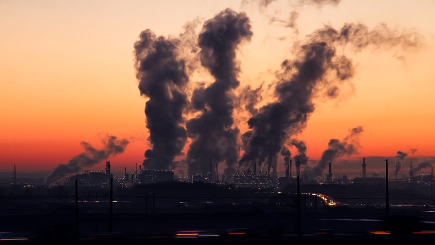 Air pollution - burning of fossil fuels