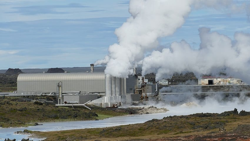 Geothermal power project - Iceland power plant