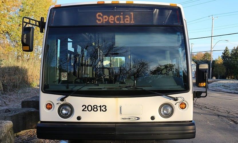 Hydrogen fuel bus - public transit bus