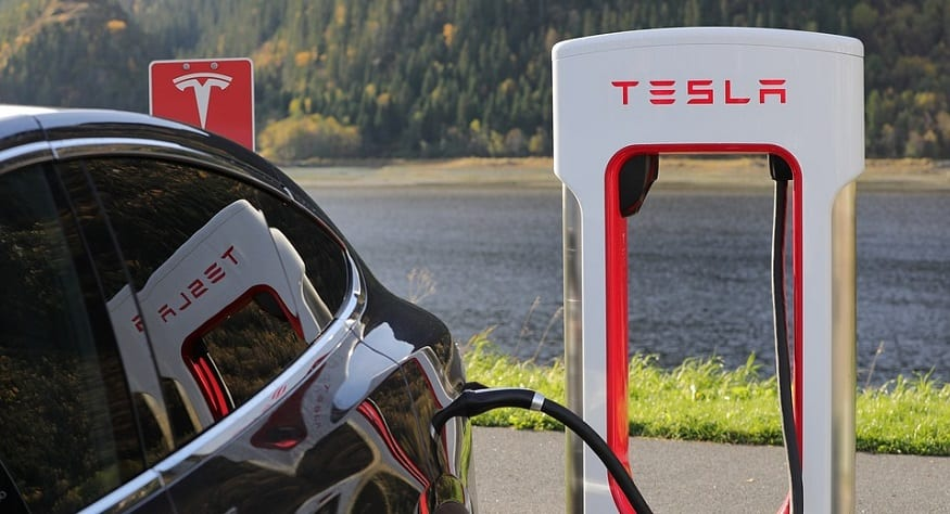 Norway EV sales - Tesla electric vehicle charging