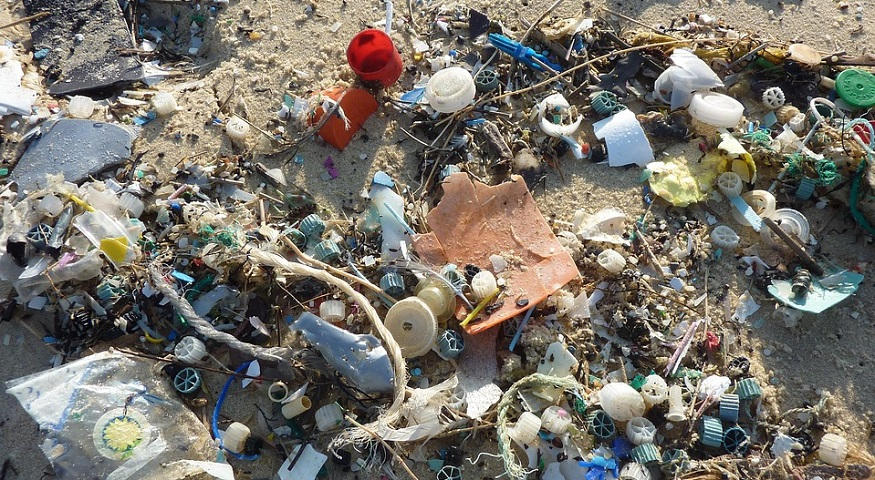 East Timor to Recycle all plastic waste - plastic trash on beach