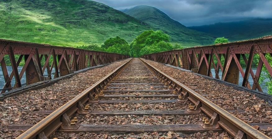 Hydrogen railway - railway line - rail tracks