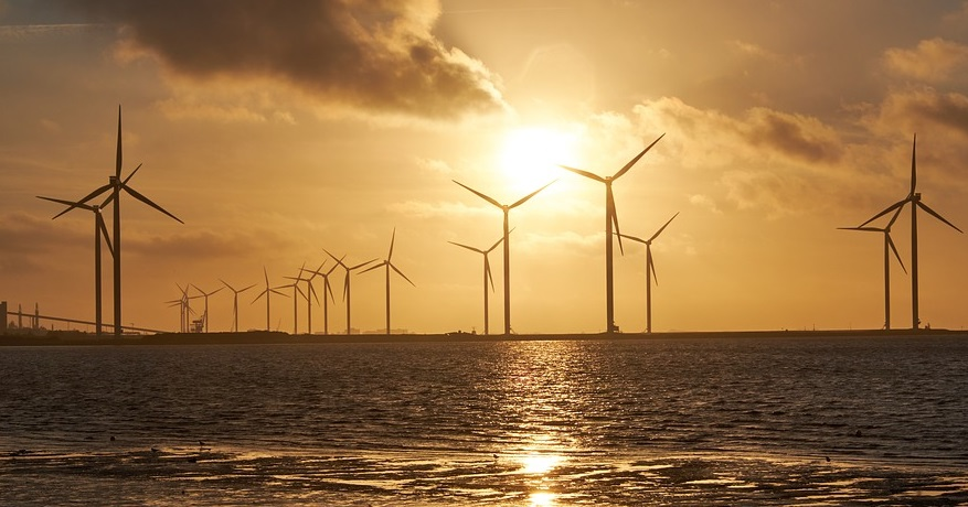 Offshore wind energy project - Wind Turbines water