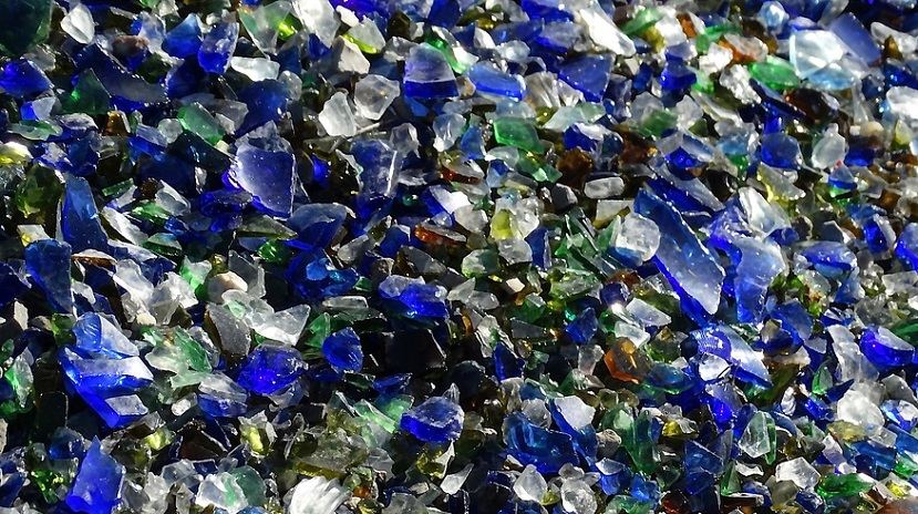 Glass waste - shards of glass