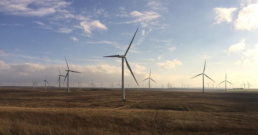 Wind power storage - Whitelee wind farm