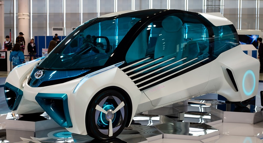 Hydrogen storage challenges - Toyota fuel cell vehicle concept car