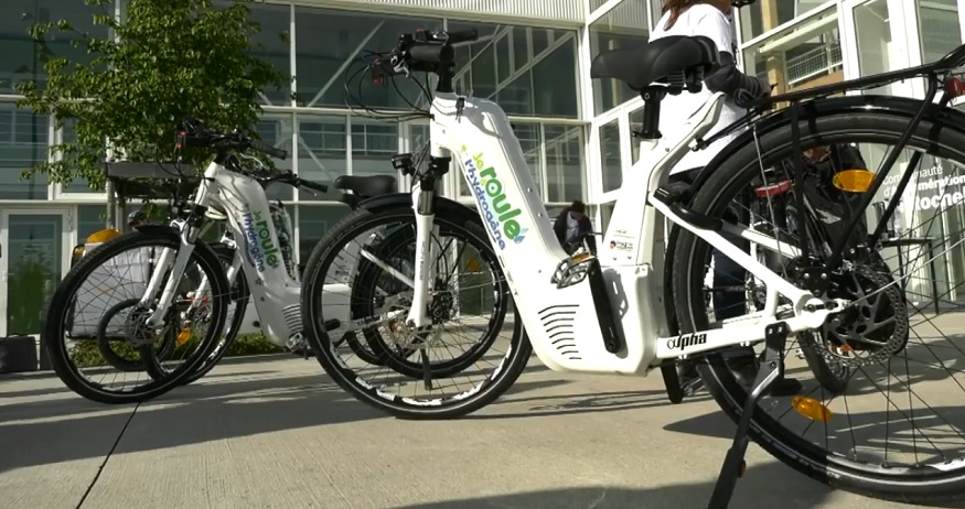 Hydrogen fuel cell bike - Pragma Industries - YouTube