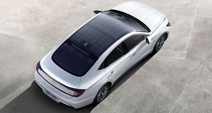 Hyundai launches hybrid solar panel car with a PV panel roof