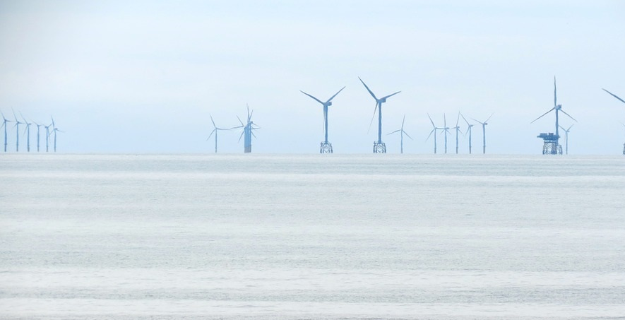 US offshore wind energy - wind turbines on water