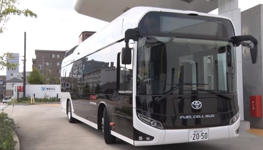Toyota Fuel Cell Buses - FC Bus Sora - Toyota Motor Corporation YouTube