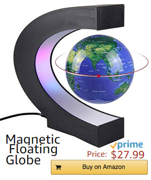 magnetic floating globe Amazon