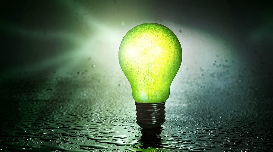 Green H2 - green light bulb