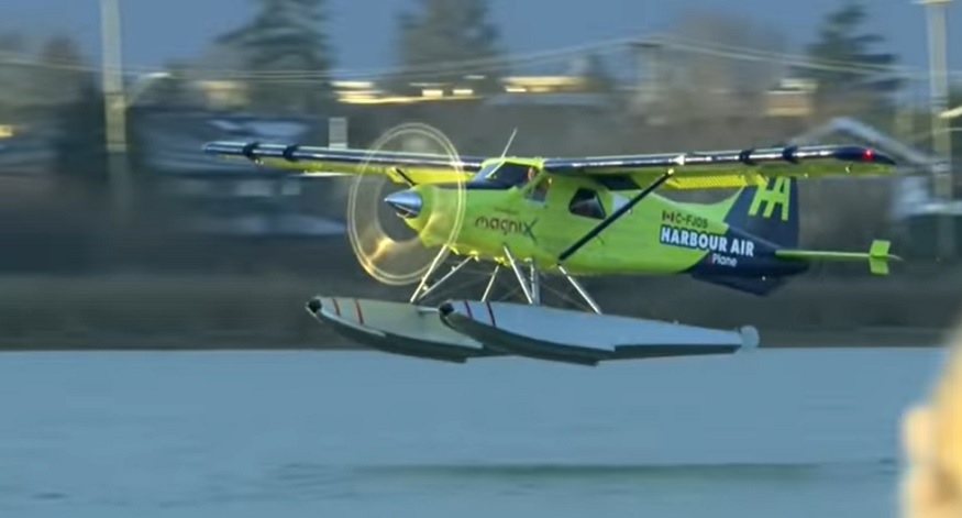 The world's first fully electric seaplane takes flight in Canada