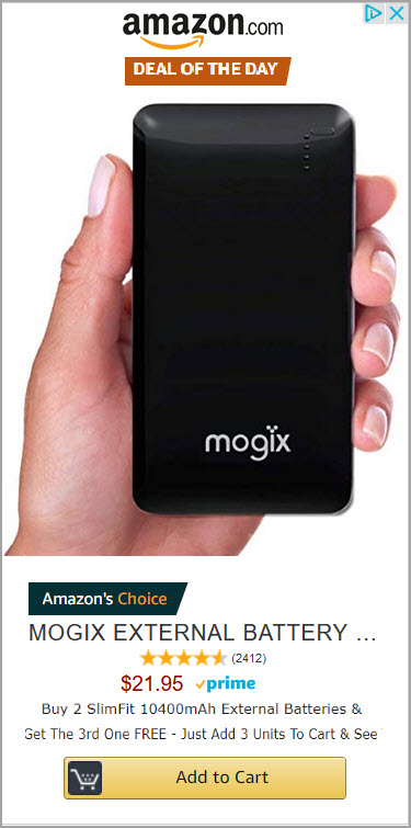 Amazon External Battery Pack Sale