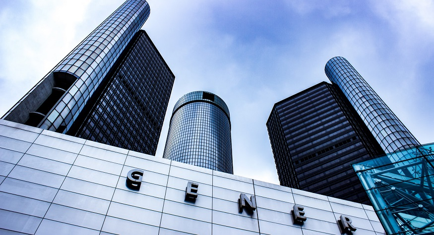 GM electric car - General Motors Building