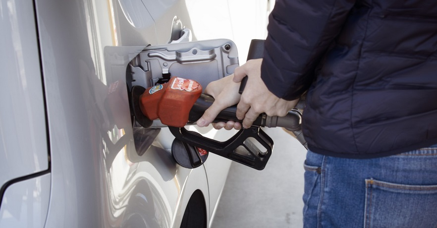 Hydrogen gas stations - Person refueling their car - gas station