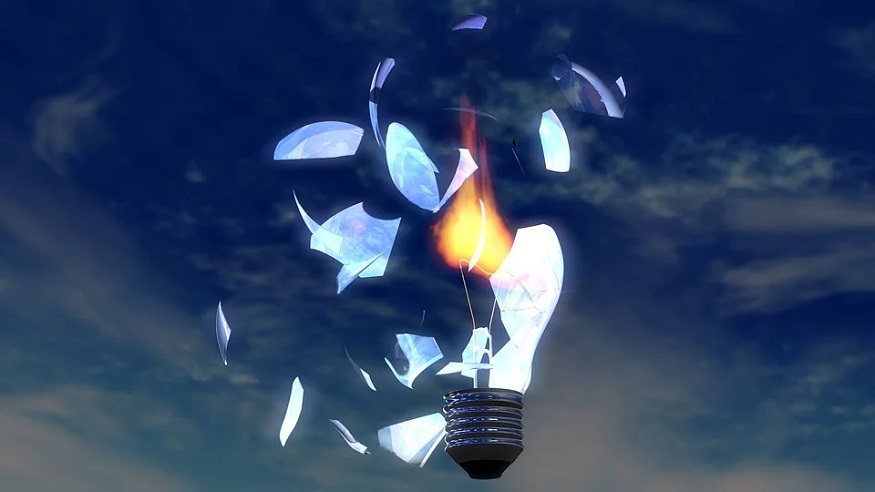 Renewable Energy Projects - broken light bulb - sky