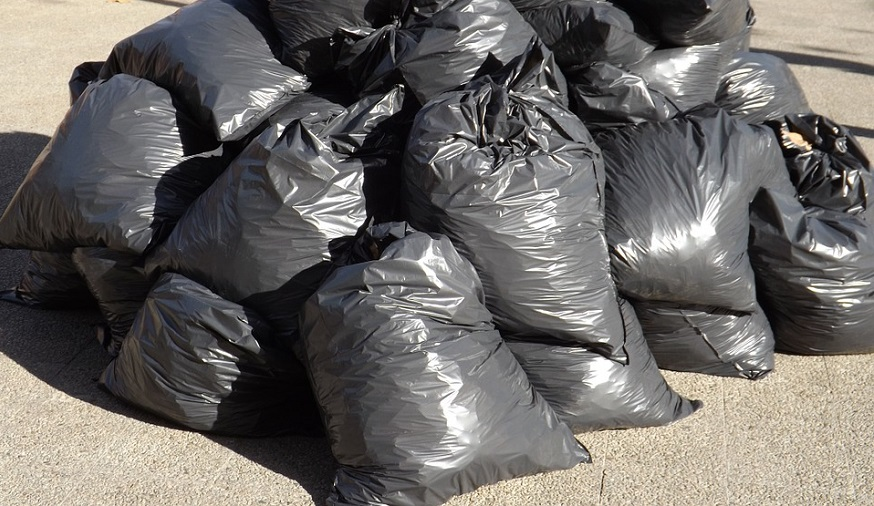Throwaway Culture - pile of garbage bags