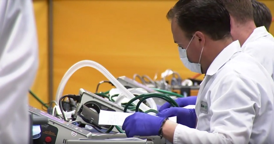 Hydrogen fuel cell engineer creates repair solution for critically needed ventilators