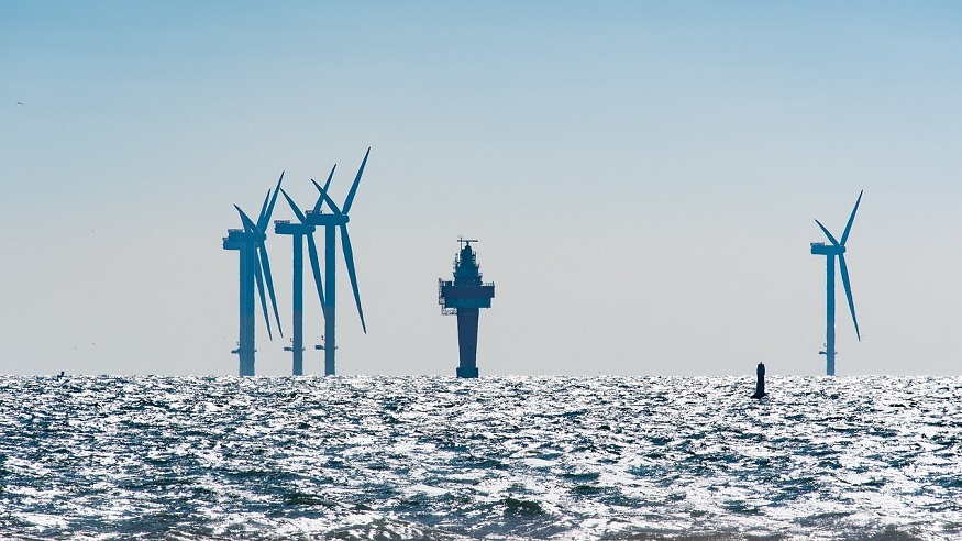 Hydrogen turbine tower - offshore wind power